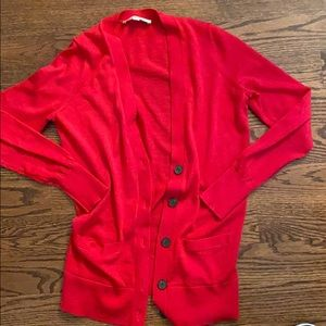 Loft cardigan in coral/pink size small women's